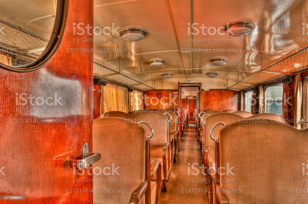 Inside of the 'Árpád' Railbus royalty-free stock photo