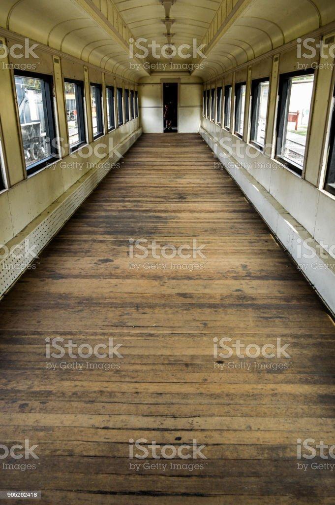 Inside Old Wooden Train Car zbiór zdjęć royalty-free