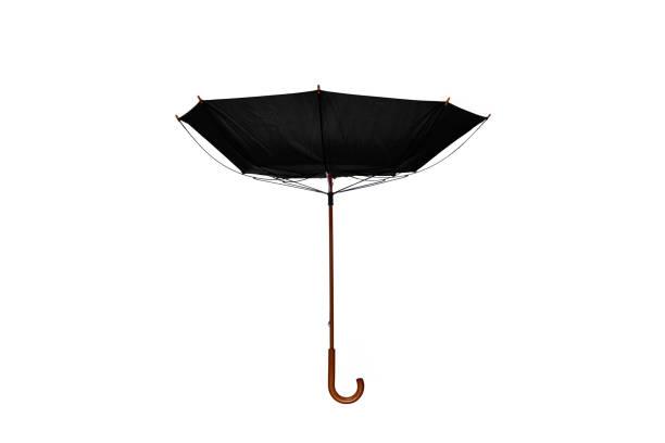 Inside Out Black Umbrella Center on White Background stock photo