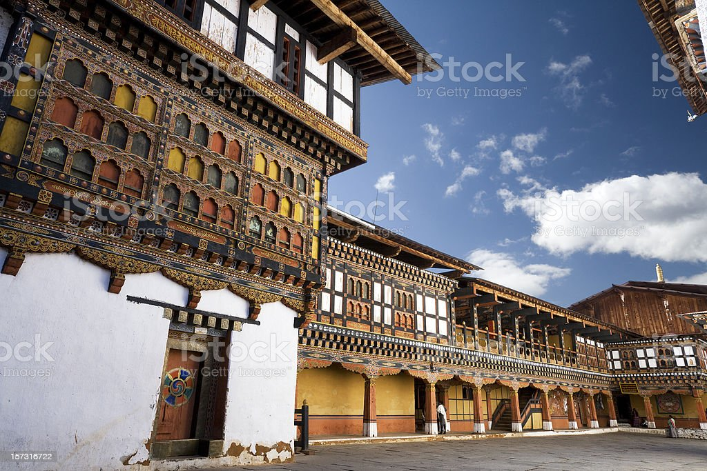 Inside Paro Dzong stock photo
