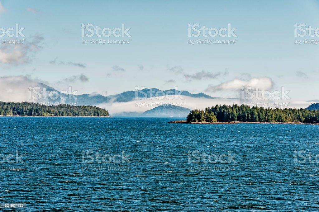 Inside Passae Outside Ketchikan Alaska stock photo