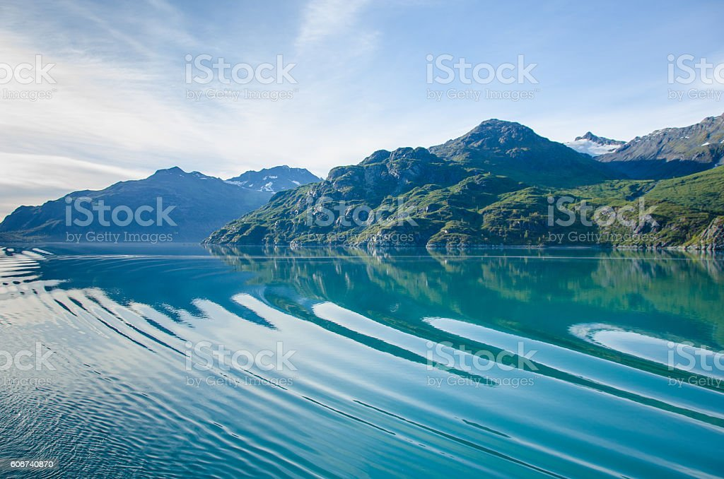 Inside passage of Alaska stock photo
