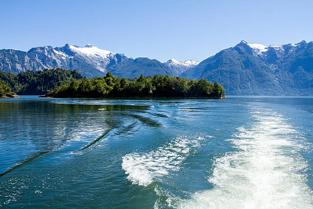 inside passage of the chilean fjords - fjord stock photos and pictures