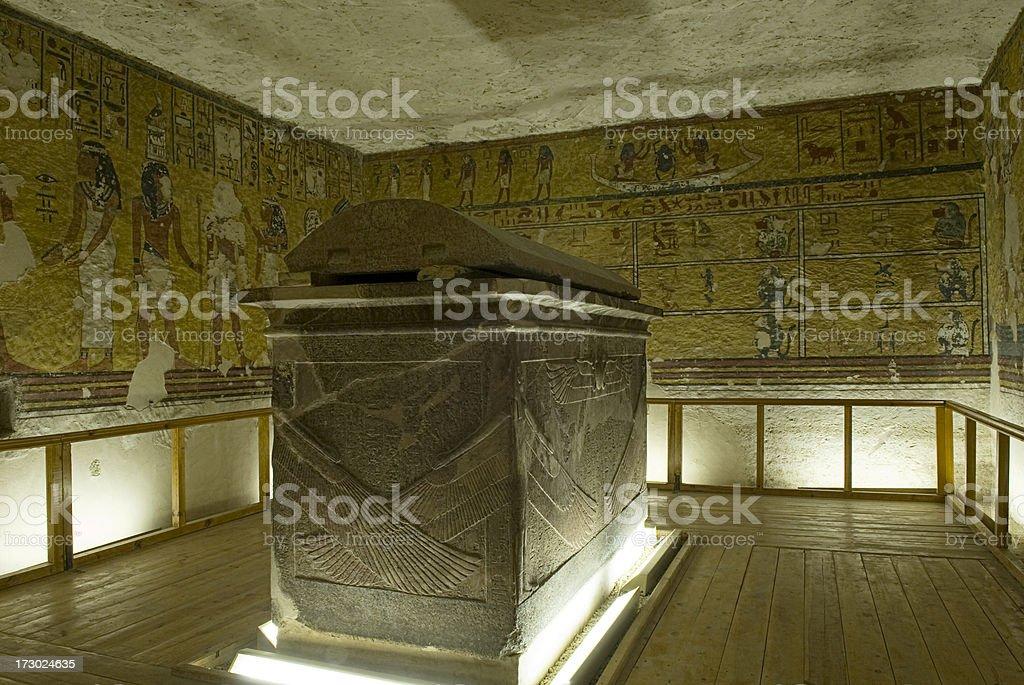 Inside Pharaoh' s Tomb. stock photo