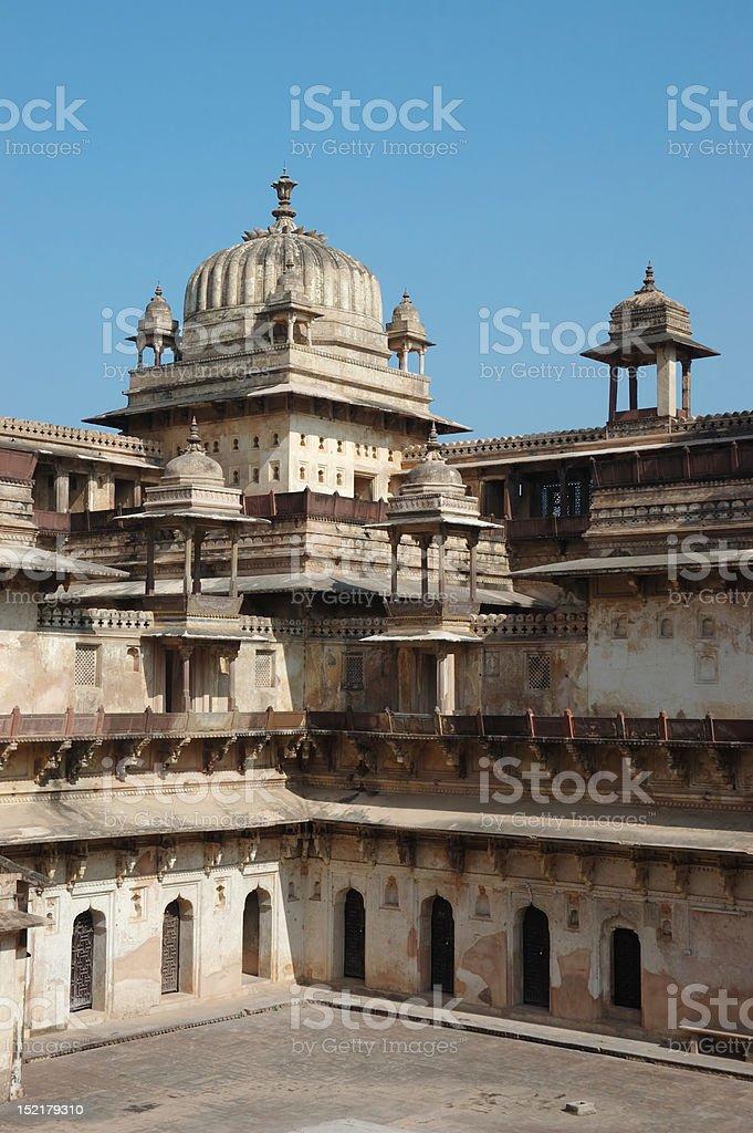 Inside Raj Mahal palace at Orcha ,India,Madhya Pradesh stock photo
