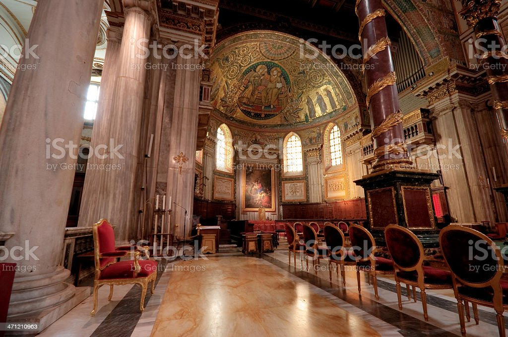 Inside Santa Maria Maggiore (HDR) royalty-free stock photo