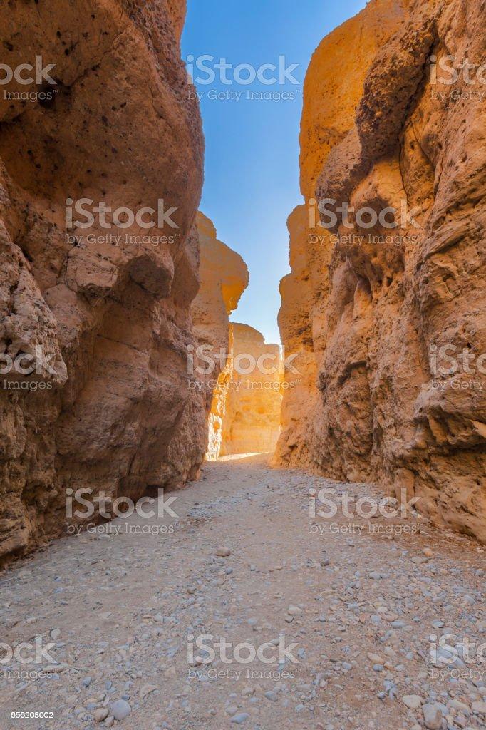 Inside Sesriem Canyon stock photo