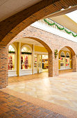 Interior Shopping mall with Christmas decorations