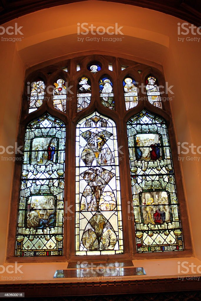 Inside St Mary Magdalene, Sandringham stock photo