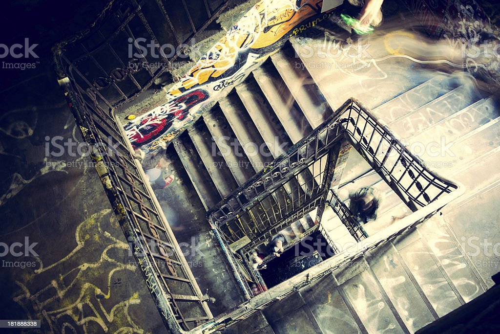 Inside Tacheles royalty-free stock photo