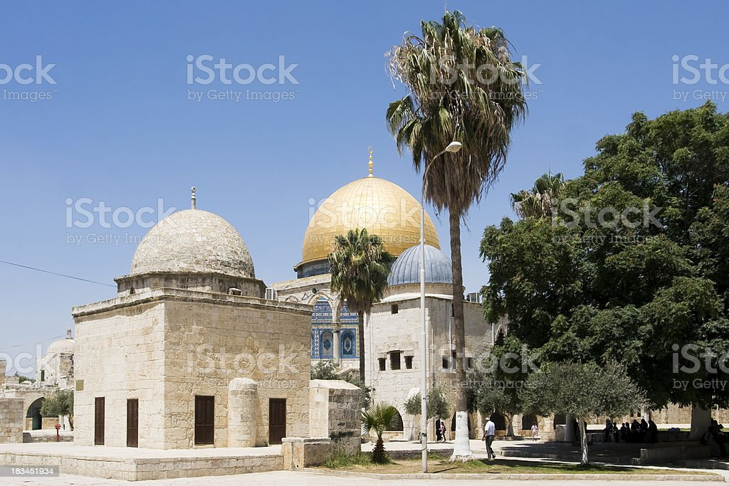 Inside Temple Mount royalty-free stock photo