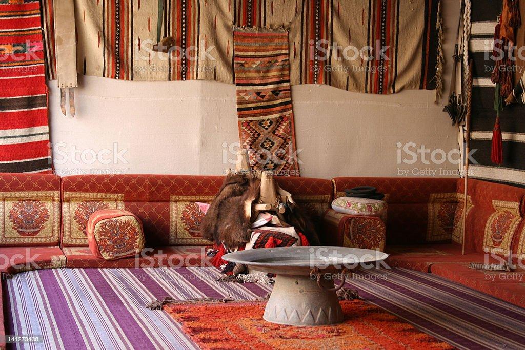 Inside tent stock photo
