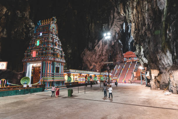 Inside the Batu Caves Hindu temple complex Batu Caves, located on the outskirts of Kuala Lumpur in Gombak district, Malaysia. kuala lumpur batu caves stock pictures, royalty-free photos & images