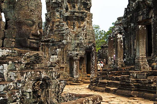 Inside The Bayon Temple, Angkor stock photo