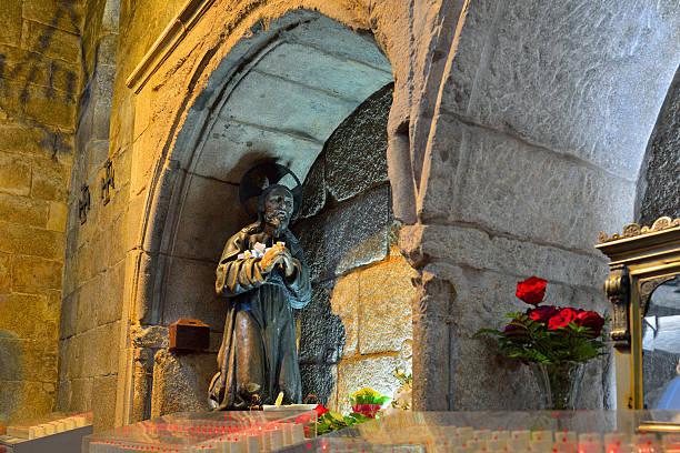 All'interno della Cattedrale di santiago de compostela - foto stock