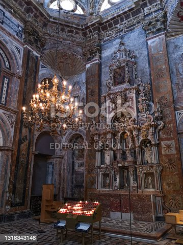 istock Inside the Cathedral of Santiago de Compostela, Spain 1316343146