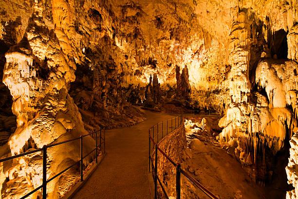 inside the cave - stalagmit bildbanksfoton och bilder