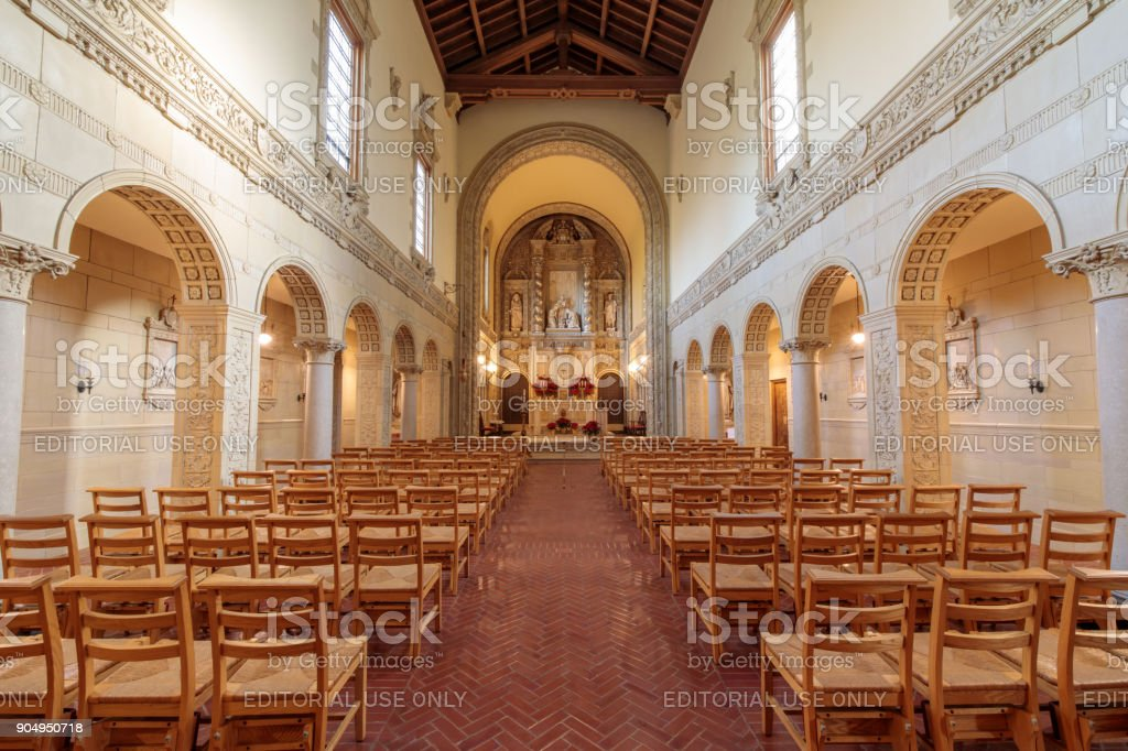 Inside the Chapel of Carmelite Monastery of San Francisco - Carmel of the Infant Jesus stock photo