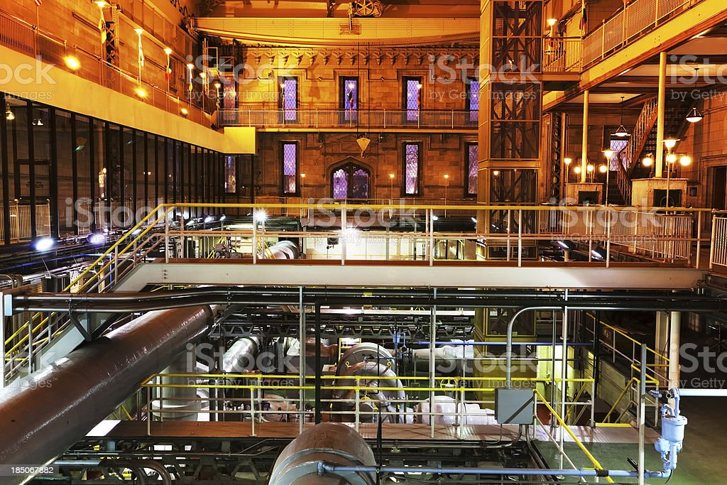 Inside The Chicago Avenue Pumping Station royalty-free stock photo