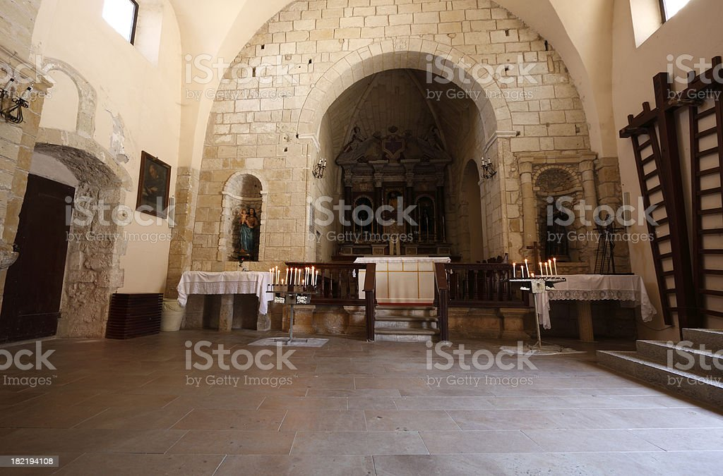 Inside the church royalty-free stock photo