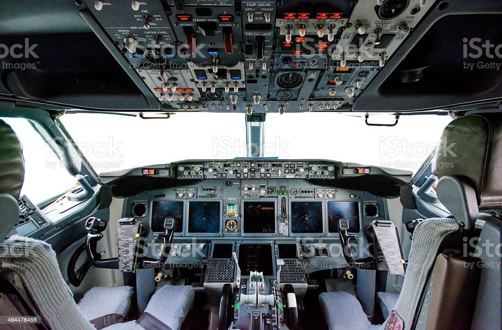Allinterno della cabina di pilotaggio aereo boeing 737 for Piani economici della cabina di ceppo
