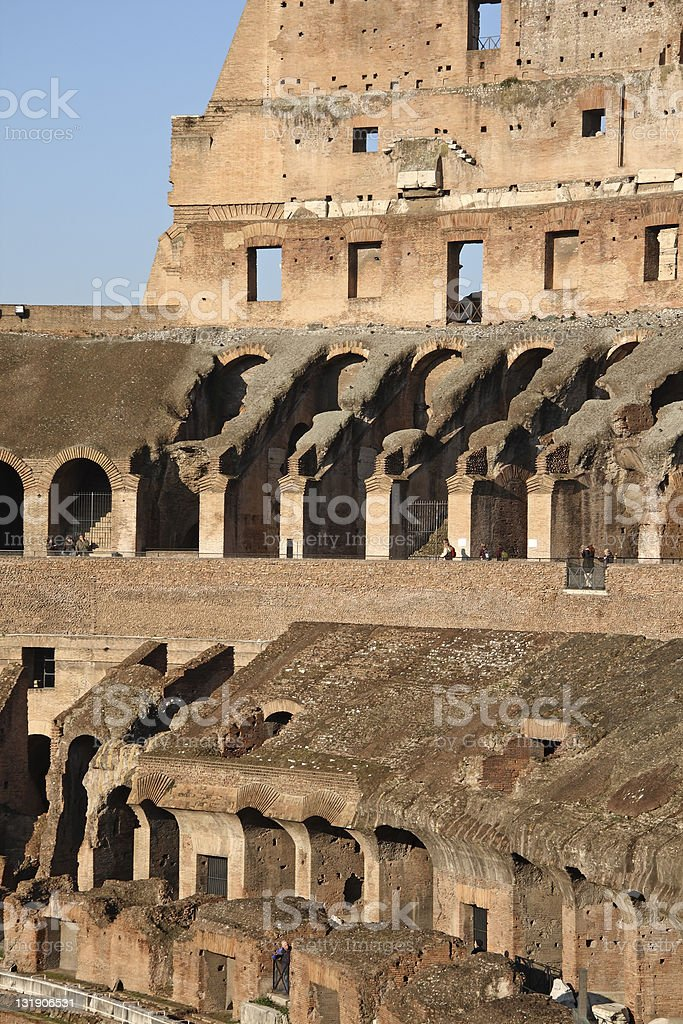 Inside the Colosseum, Coliseum, Rome royalty-free stock photo