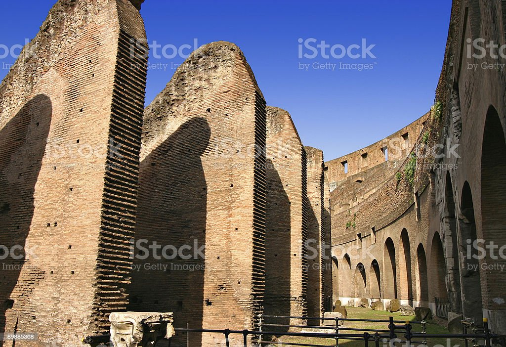 Inside the Colosseum in Rome royalty-free stock photo