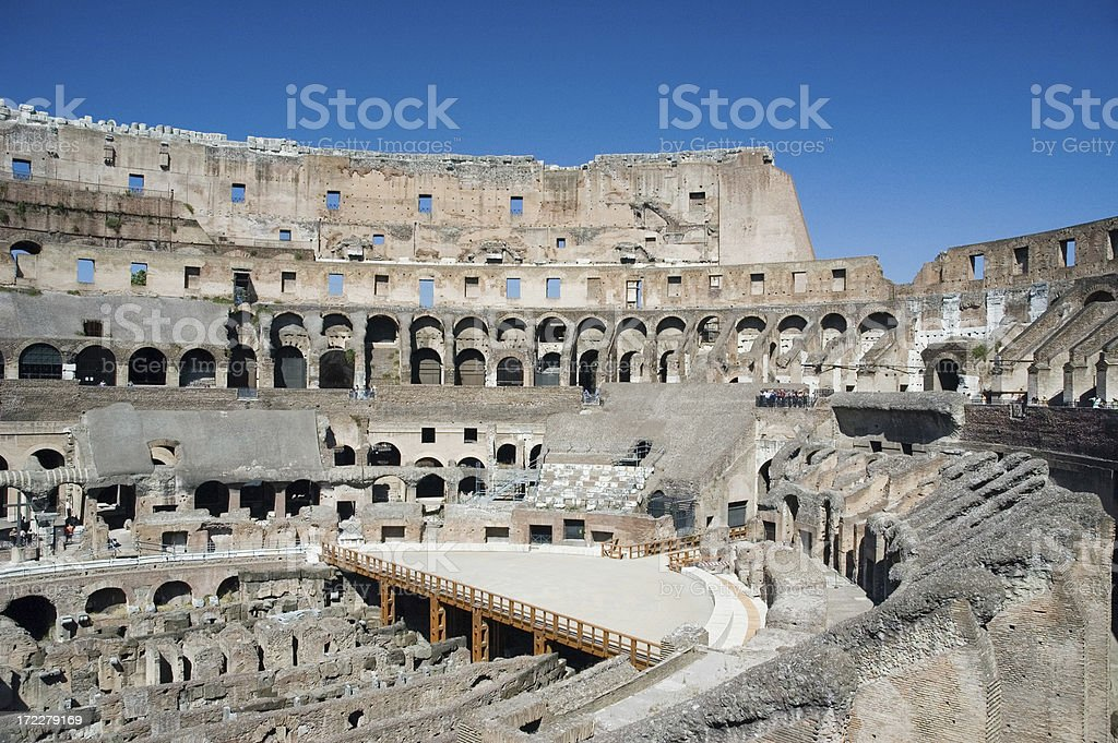 Inside the Colosseum royalty-free stock photo