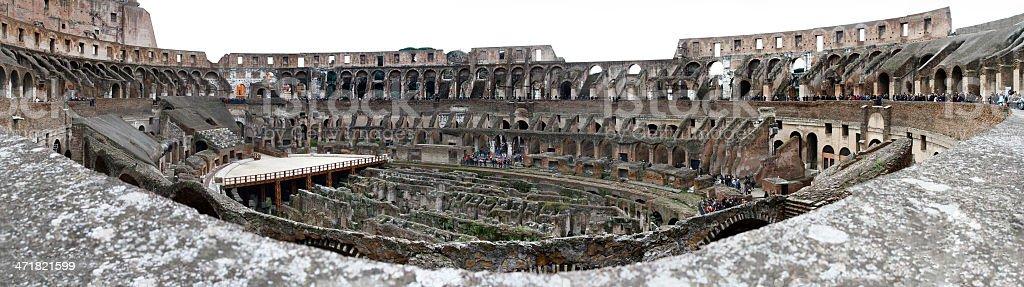 Inside the Colosseum stock photo