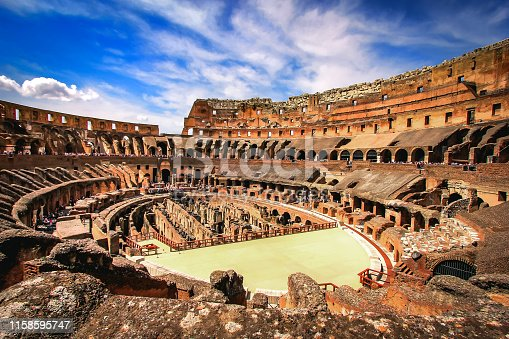 istock Inside the Colosseum , Rome - Italy 1158595747