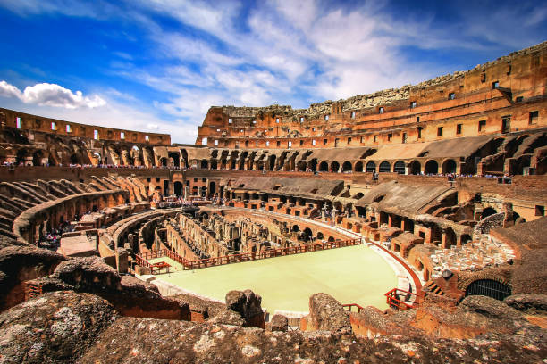 Inside the Colosseum , Rome - Italy stock photo