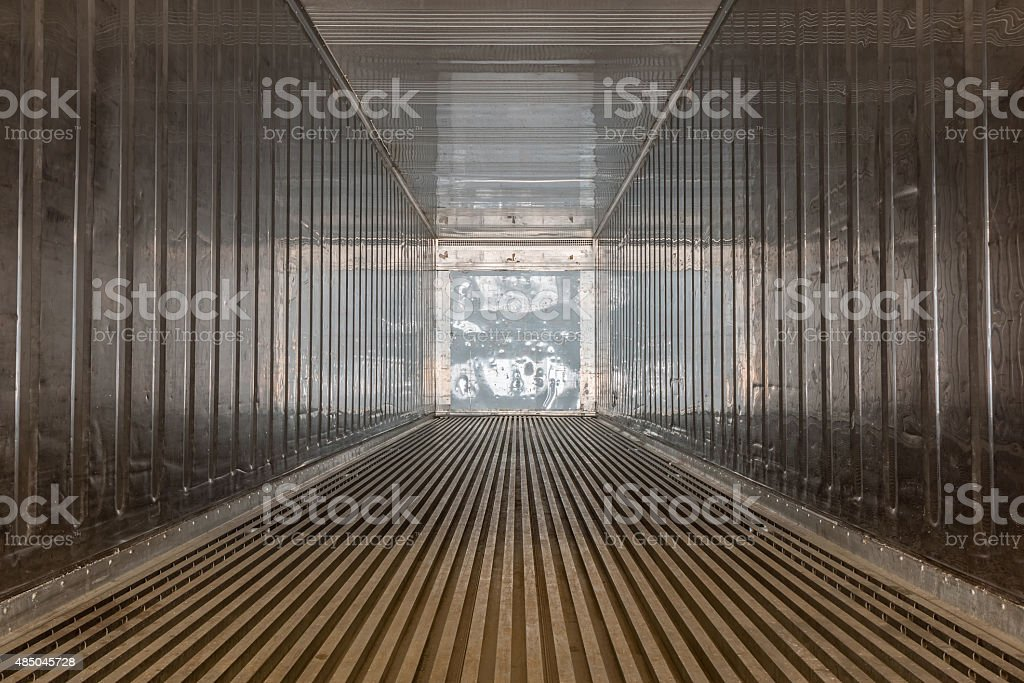 Inside the container stock photo
