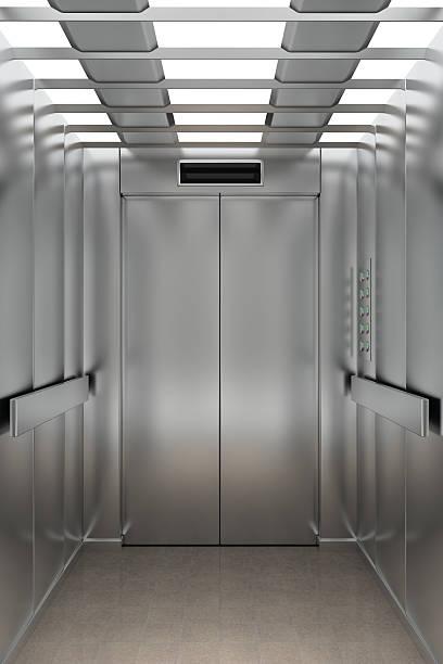 All'interno di un ascensore - foto stock