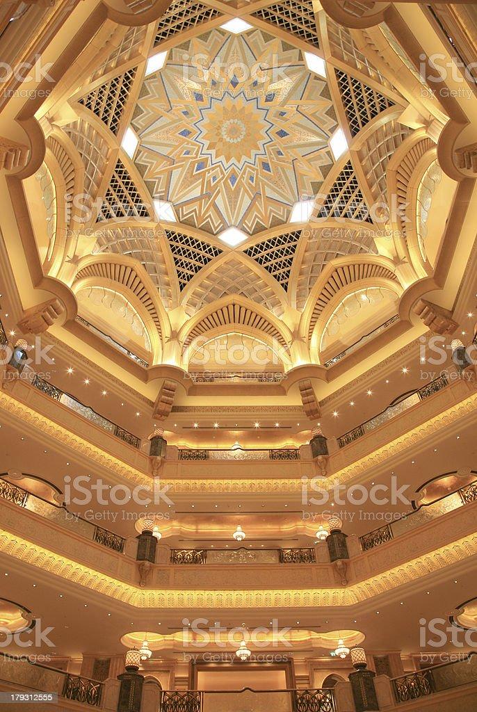 Inside the Emirates Palace stock photo