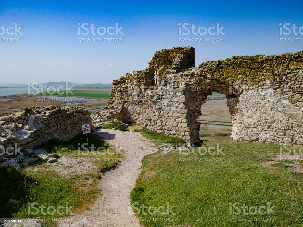Inside the Enisala Fortress and the Danube Delta in Dobrogea Romania stock photo
