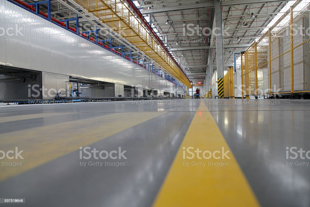Inside the factory stock photo