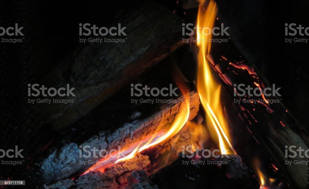 壁爐裡 免版稅 stock photo