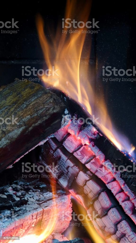 Inside the fireplace royalty-free stock photo