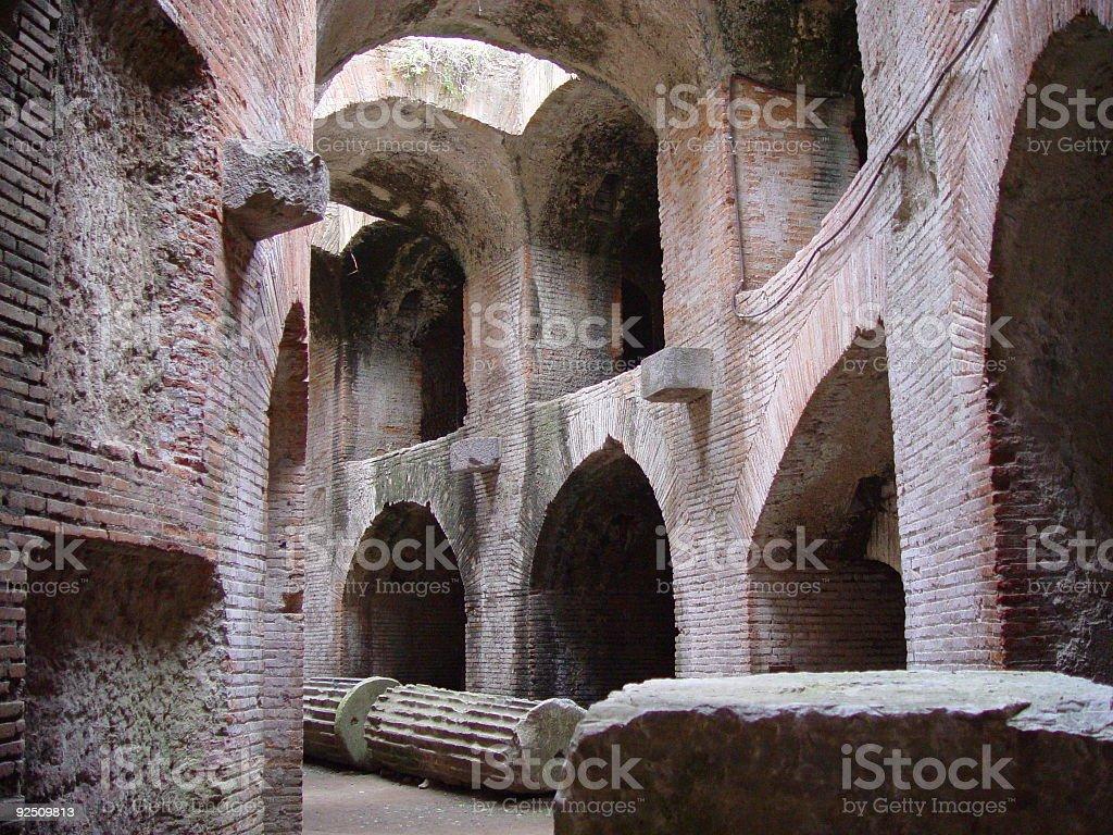 Inside the Flavio Amphitheater stock photo
