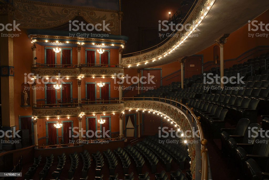Inside the Grand Opera House stock photo