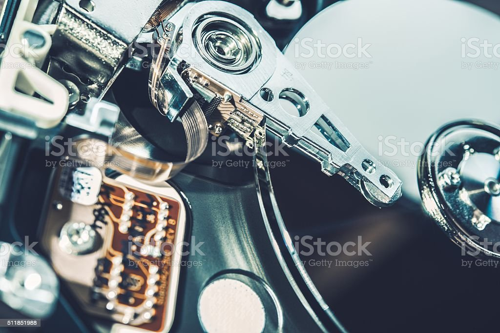 Inside the Hard Drive stock photo