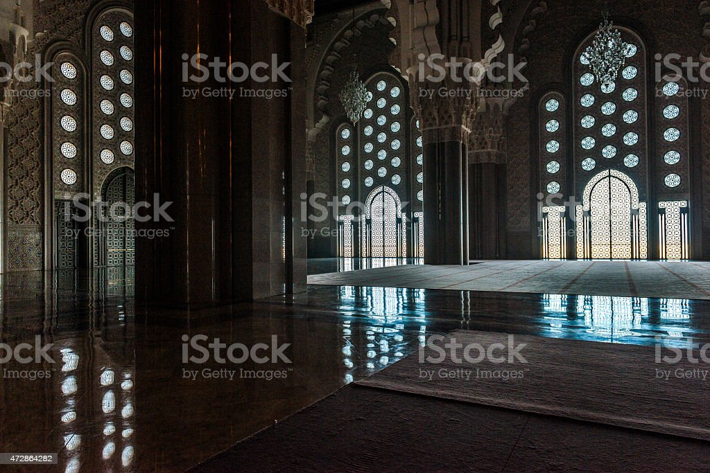 Hassan II Mosque in Casablanca is the largest mosque in Morocco, and...