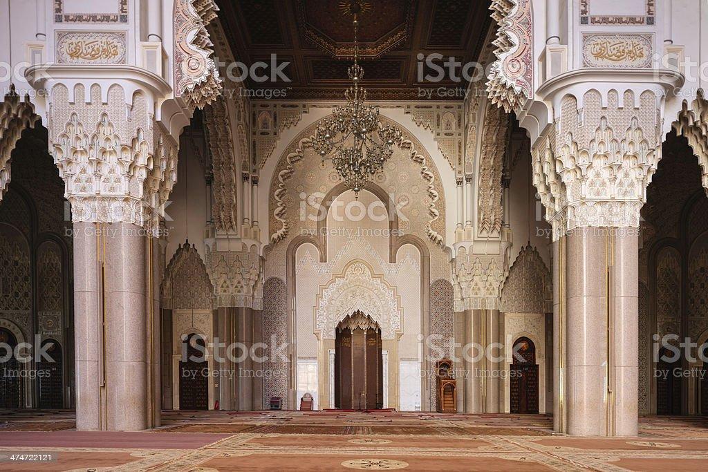 Inside The Hassan II Mosque, Casablanca stock photo