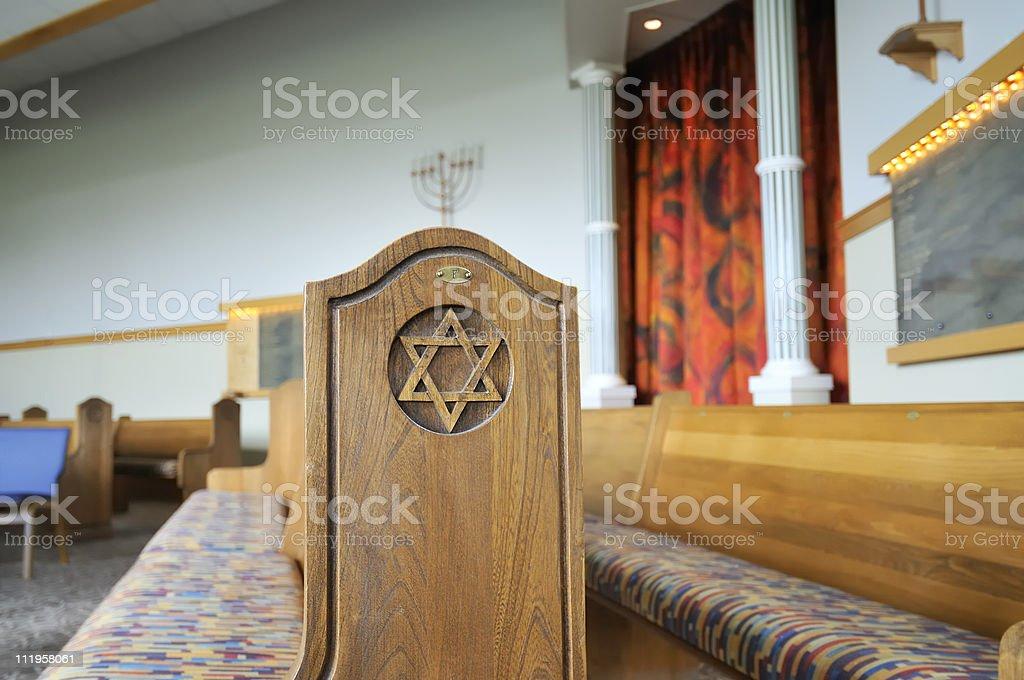 Inside the Jewish Temple stock photo