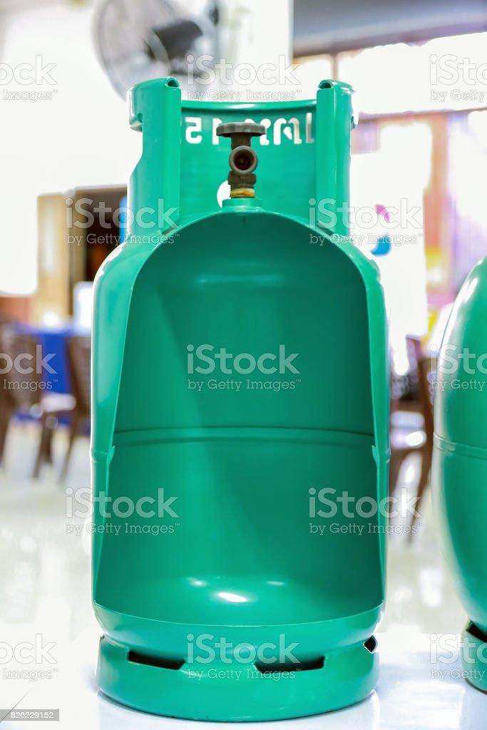 Inside the LPG Tank stock photo