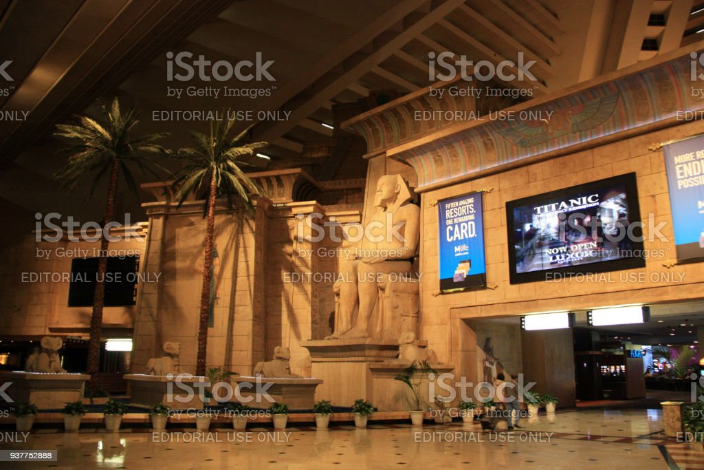Inside the Luxor Las Vegas, Las Vegas, NV stock photo