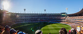 Australia, Melbourne - September 13, 2015: Panoramic view inside the Melbourne Cricket Ground with a crowd of 90,000 during an elimination final