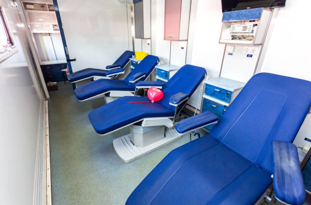 Im Inneren des mobilen Bluttransfusionsstellenfahrzeugs – Foto