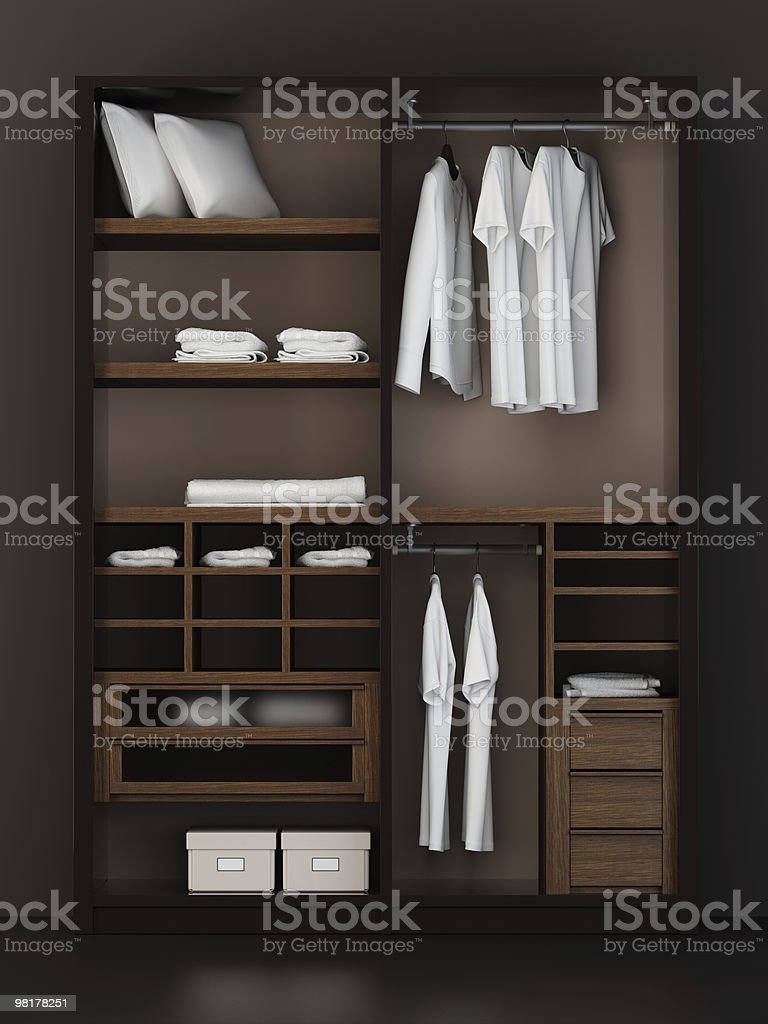 Inside the modern closet 3d rendering royalty-free stock photo