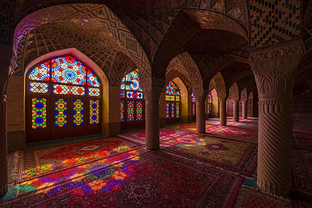 im nasir ol molk moschee in shiraz, iran - iranische stock-fotos und bilder